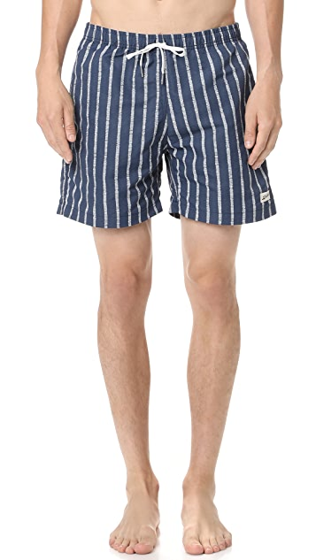 Bather Broken Stripes Swim Trunks