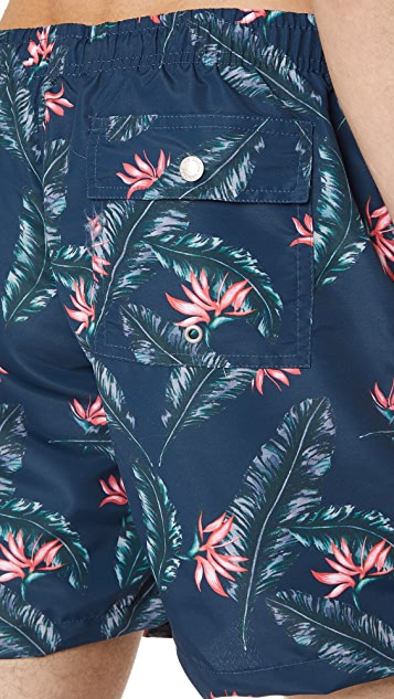 Bather Birds Of Paradise Swim Trunks