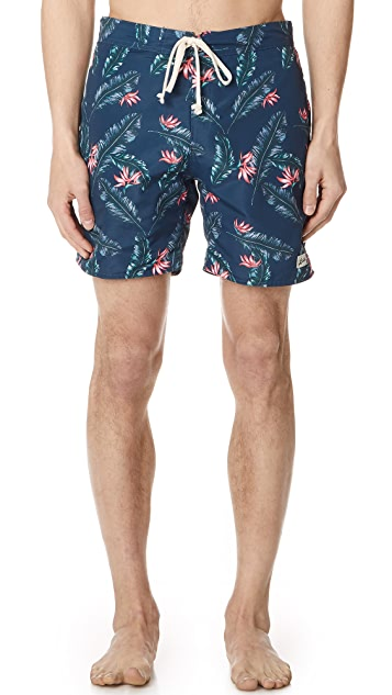 Bather Birds Of Paradise Surf Trunks