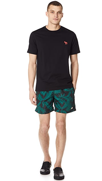 Bather Tropical Palms Swim Trunks