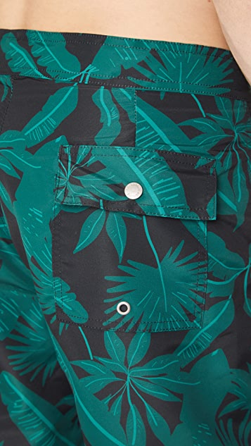 Bather Tropical Palms Surf Trunks