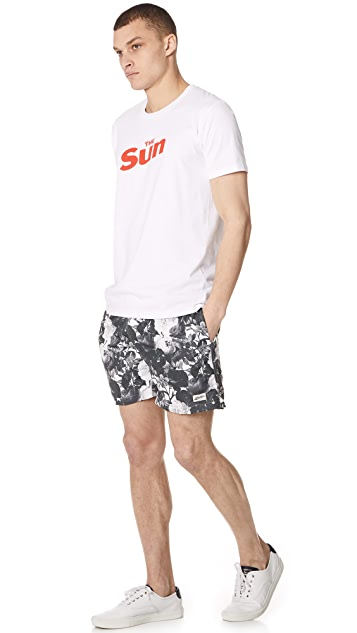 Bather Black Roses Swim Trunks