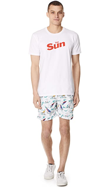 Bather Sail Swim Trunks