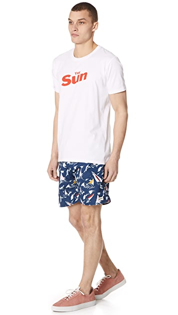 Bather Sail Surf Trunks