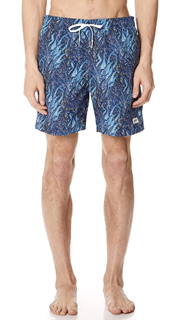 Bather Blue Coral Swim Trunks