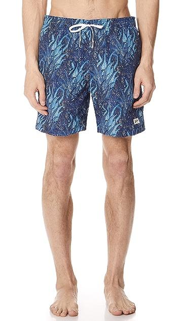 Bather Blue Coral Swim Trunks