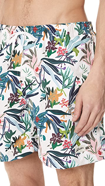 Bather Color Jungle Tropics Swim Trunks