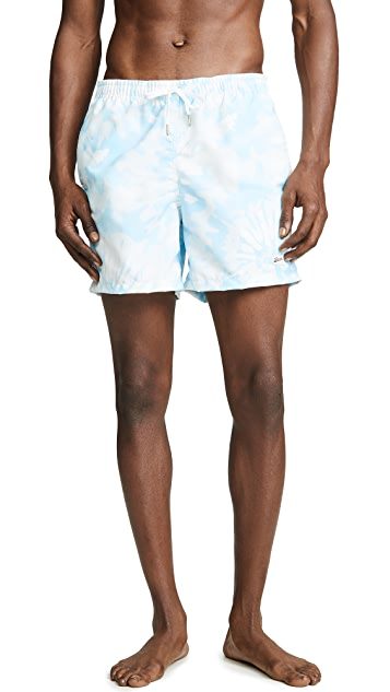 Bather Baby Blue Tie Dye Swim Trunks