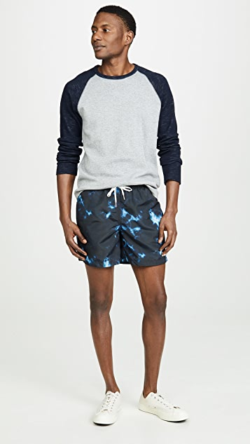 Bather Print Swim Trunks