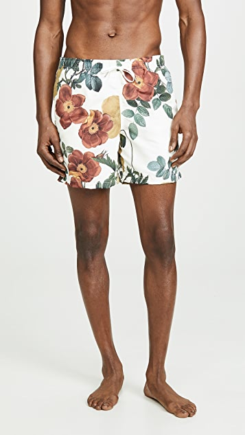 Bather Daytime Bouquet Print Swim Shorts