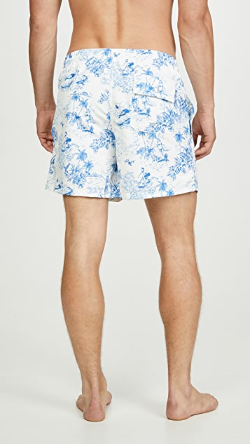 Bather French Toille Trunks