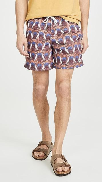 Bather Orange Deco Swim Shorts
