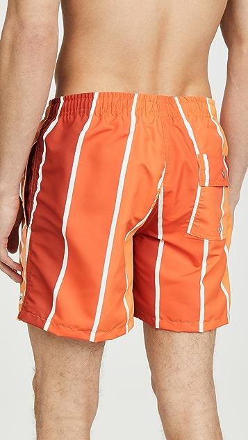 Bather Orange Gradient Swim Shorts