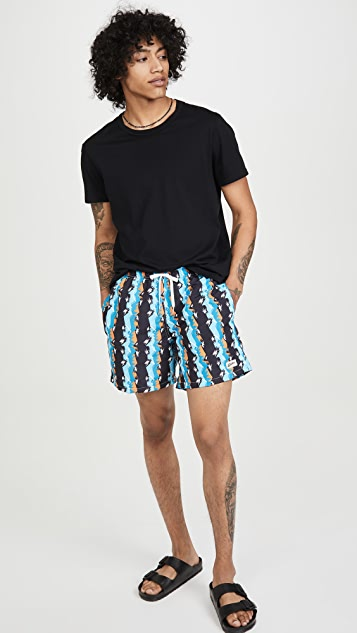 Bather Bizarro Stripe Swim Shorts