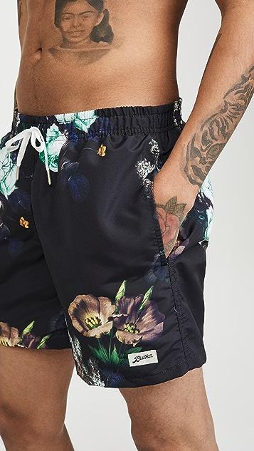 Bather Purple Bouquet Swim Shorts