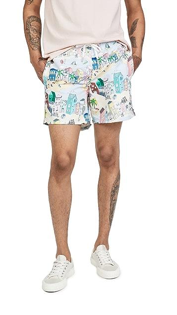Bather Multi Cityscape Swim Shorts