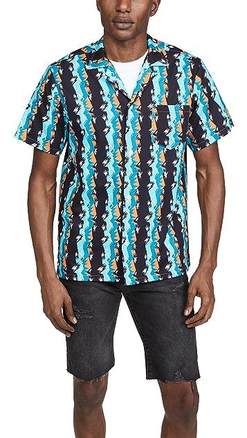 Bather Short Sleeve Bizarro Stripe Shirt