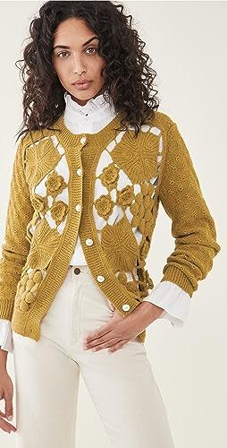 BATSHEVA - Crochet Alpaca Cardigan