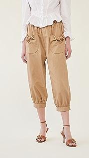 BATSHEVA 绑带裤子