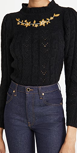 BATSHEVA - Embroidered Alpaca Knit Pullover