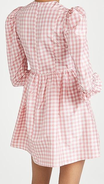 BATSHEVA Collarless Mini Prairie Dress