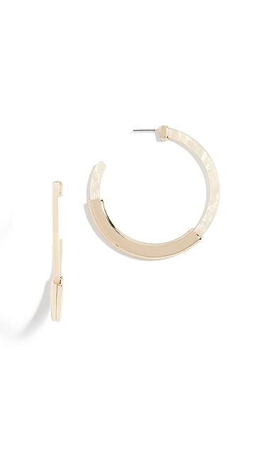 BaubleBar Tassiana Hoop Resin Earrings