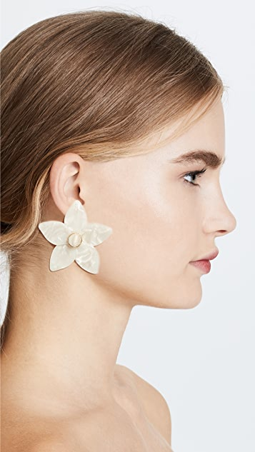 BaubleBar Amariella Flower Stud Resin Earrings