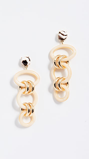 BaubleBar Fabella Linked Drop Resin Earrings