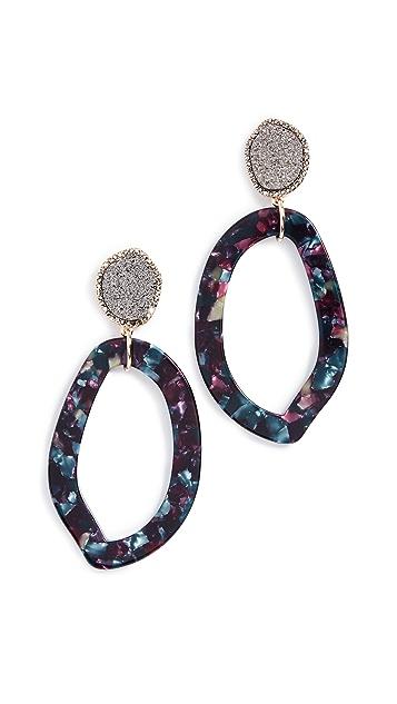 BaubleBar Tristana Hoop Resin Earrings