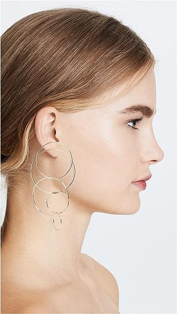 BaubleBar Romelia Linked Hoop Earrings