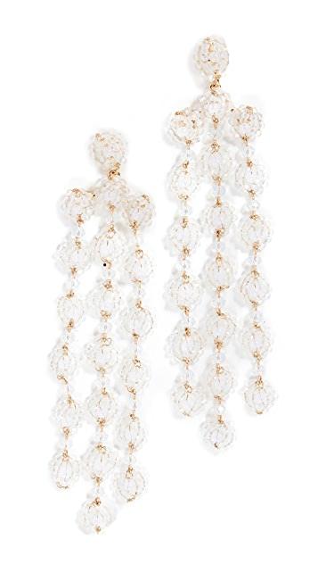 BaubleBar Shiori Flower Drop Earrings