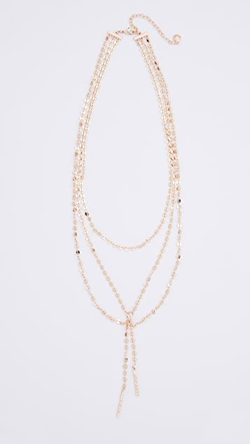 BaubleBar Amber Layered Y Chain Necklace