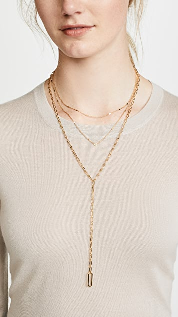 BaubleBar Linza Layered Y Chain Necklace