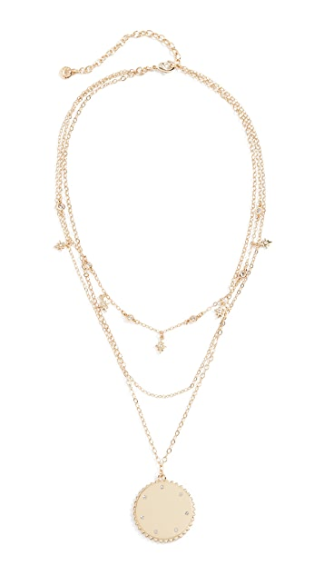 BaubleBar Andromeda Layered Pendant Necklace