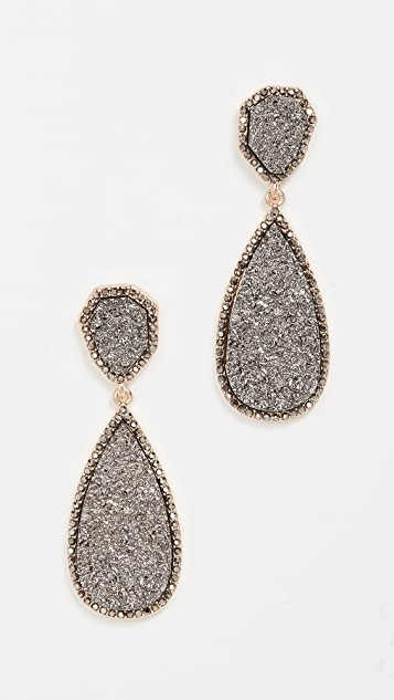 BaubleBar Moonlight Druzy Drop Earrings