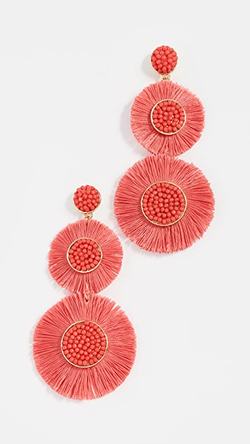 Fringe Drop Earrings by Bauble Bar