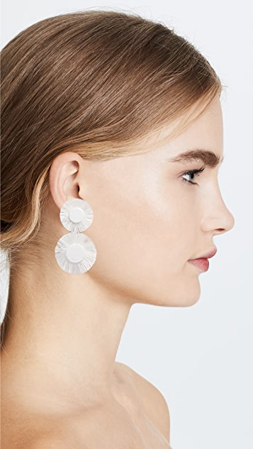 BaubleBar Fringe Circle Earrings