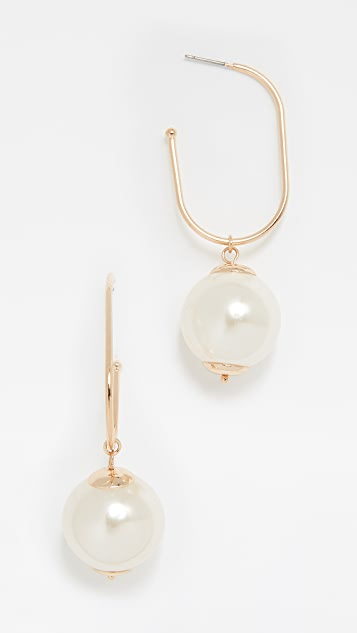 BaubleBar Large Imitation Pearl Earrings