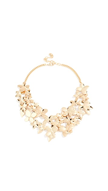 BaubleBar Metal Petals Flower Necklace