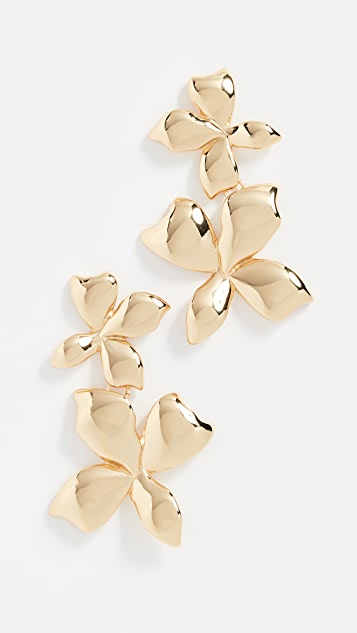 BaubleBar Metal Petals Flower Earrings