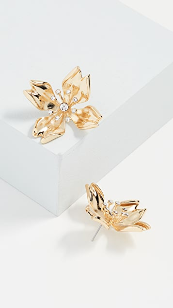 BaubleBar Metal Petals Flower Stud Earrings PuUaOiRN