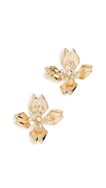 BaubleBar Metal Petals Flower Stud Earrings