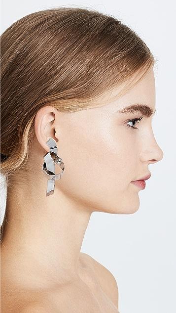BaubleBar Geo Metal Knot Earrings