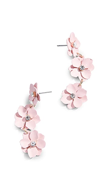 BaubleBar Three Station Flower Drop Earrings
