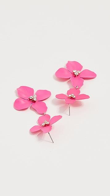 BaubleBar Double Four Flower Petal Drop Earrings