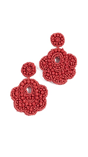 BaubleBar Oversized Mixed Bead Statement Drop Earrings