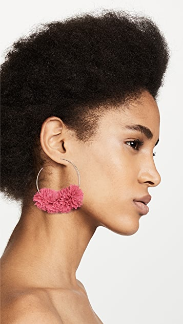 BaubleBar Hoop with Flower Earrings