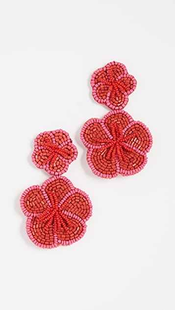 BaubleBar Double Beaded Flower Earrings