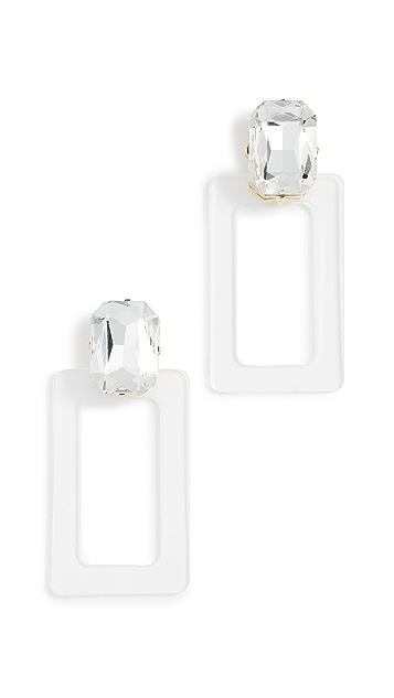 BaubleBar Lucite Rectangle Earrings