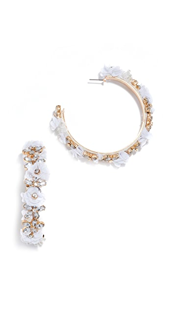 BaubleBar Esme Flower Hoop Earrings